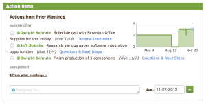track tasks across recurring meetings