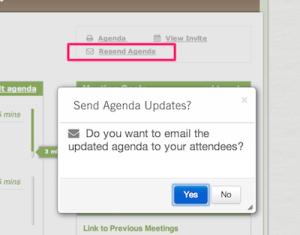 Agenda Updates